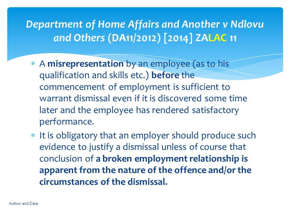 Department of Home Affairs and Another v Ndlovu and Others (DA11/2012) [2014] ZALAC 11